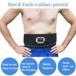 ceinture électrostimulation performante simple d'utilisation confortable