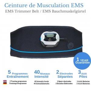 veofit ceinture électrostimulation ems efficace pour muscler tonifier la zone abdominale homme femme