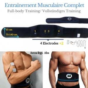 électrostimulateur veofit affiner la taille muscler le ventre obtenir des abdos