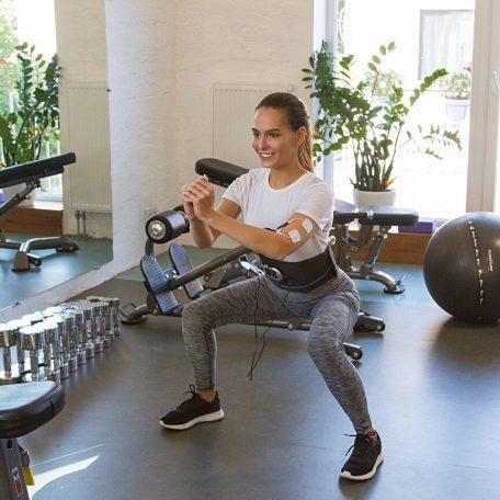 ceinture emsélectrostimulation veofit sport à la salle se muscler faire de l'exercice perdre du poids