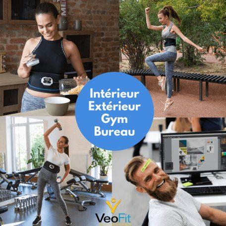 ceinture électrostimulation ems sport bureau maison extérieur