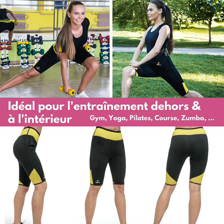 veofit short pantacourt fitness courir salle gym