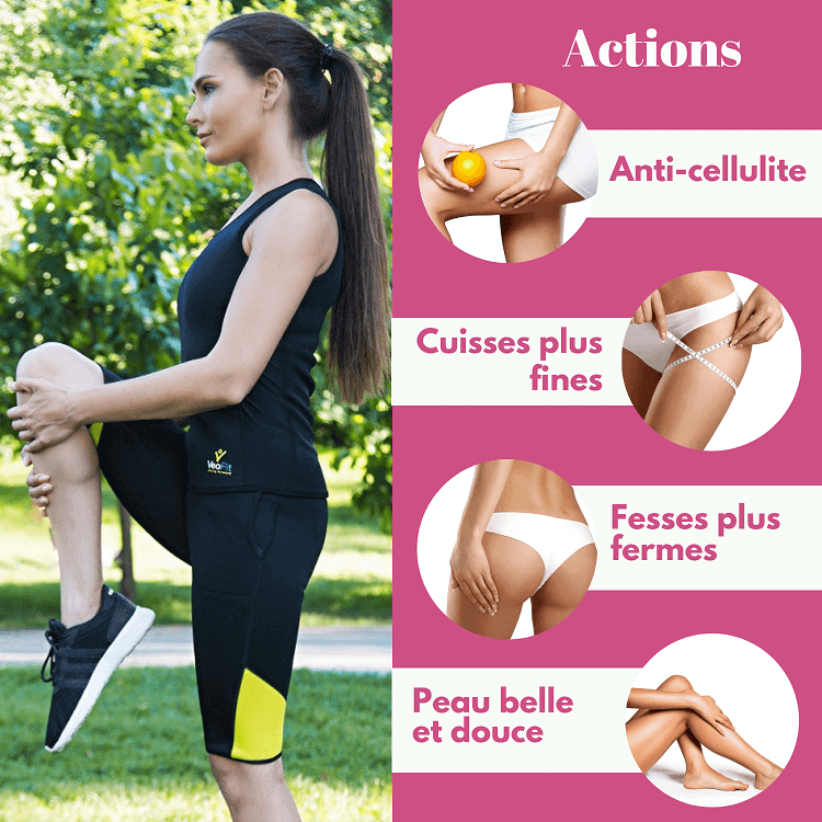 veofit short sudation anti cellullite pantalon court sport