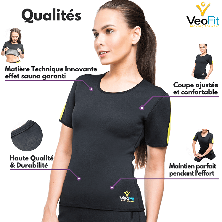 tshirt sudation veofit qualité durabile efficace taille bien