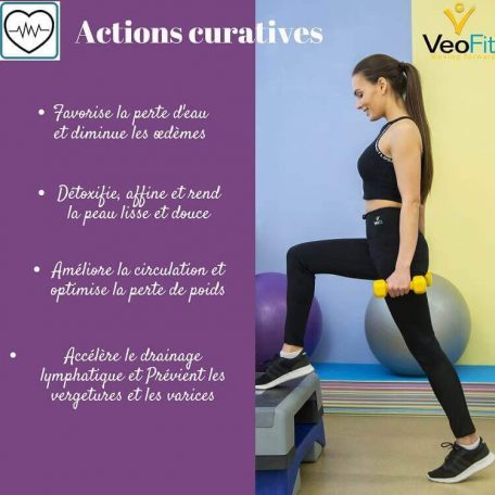 veofit pantalons sudation actions curatives