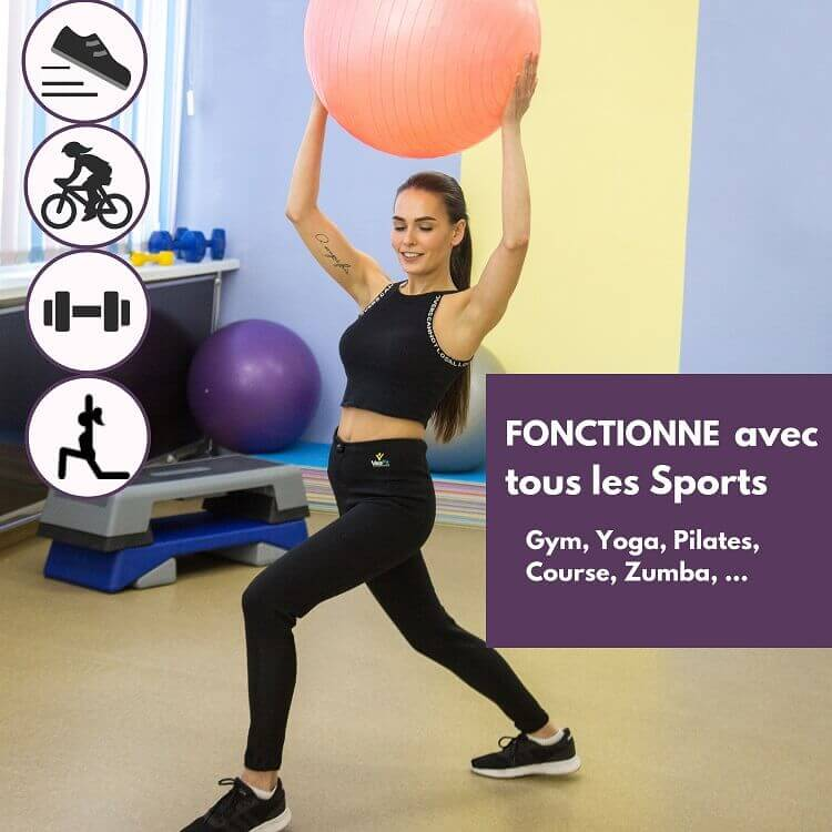 pantalon air black sudation veofit compatible tous les sports