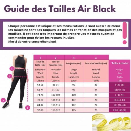 tailles air black fr
