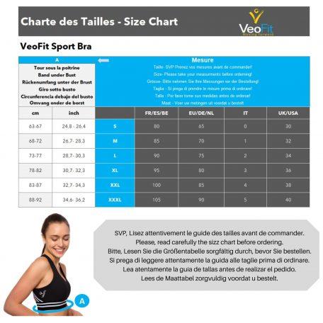 Size chart Bra Active 2kx2k
